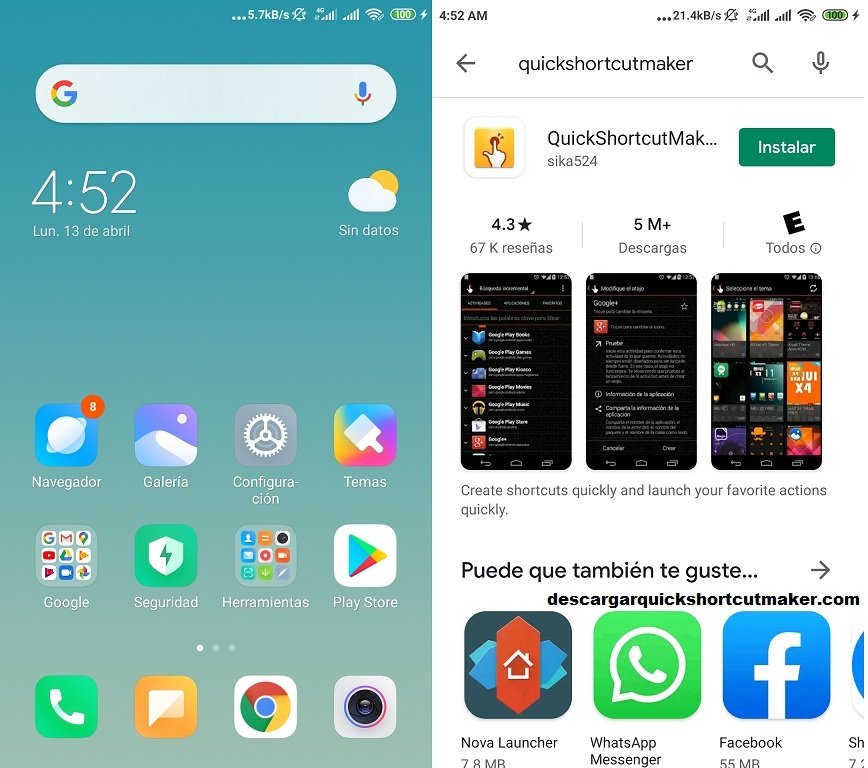 Como Instalar Quickshortcutmaker en Android
