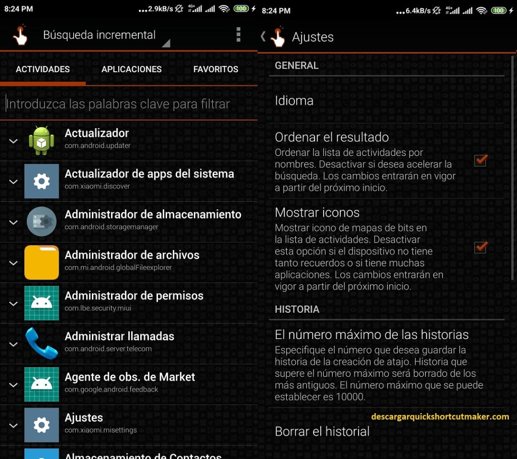 Descargar Quicksortcutmaker para Android configuraciones